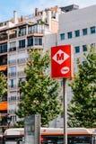 Ville du centre de Barcelone de connexion de métro de souterrain de Barcelone de l'Espagne Photographie stock libre de droits