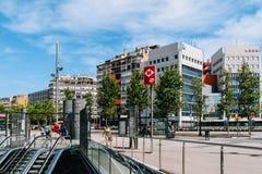 Ville du centre de Barcelone de connexion de métro de souterrain de Barcelone de l'Espagne Photographie stock