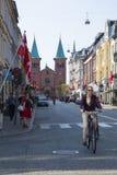 Ville du Danemark, Aarhus Photos stock