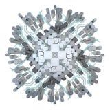 Ville du dessus en cristal illustration stock