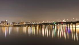 Ville du fleuve Han Séoul avec la tour de Séoul Photos libres de droits