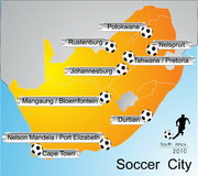 Ville du football Images libres de droits