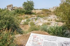 Ville du grec ancien de Miletus dans Didim, Aydin, Turquie Image stock