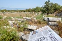 Ville du grec ancien de Miletus dans Didim, Aydin, Turquie photos libres de droits