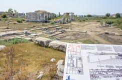 Ville du grec ancien de Miletus dans Didim, Aydin, Turquie photographie stock