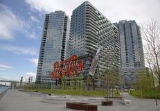 Ville du Long Island de connexion de pepsi-cola de point de repère image libre de droits