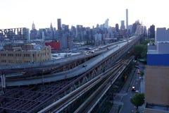 Ville du Long Island vers Manhattan image stock