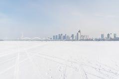 Ville du milieu du glacier Photos libres de droits