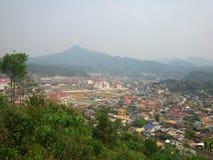Ville du nord du Laos Image libre de droits