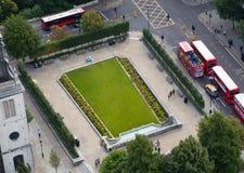 Ville du panorama de Londres, vue de cathédrale de St Paul Image libre de droits