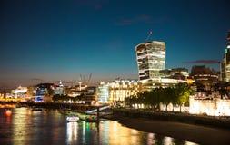 Ville du panorama de Londres, vue de cathédrale de St Paul Photo libre de droits