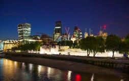 Ville du panorama de Londres, vue de cathédrale de St Paul Image stock