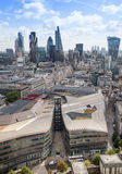 Ville du panorama de Londres, vue de cathédrale de St Paul Photos stock