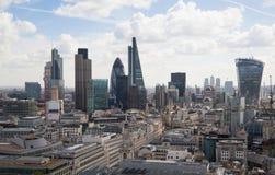 Ville du panorama de Londres, vue de cathédrale de St Paul Photos libres de droits