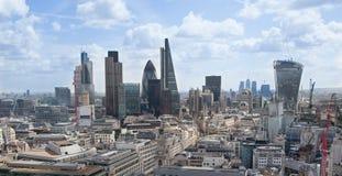 Ville du panorama de Londres, vue de cathédrale de St Paul Photographie stock