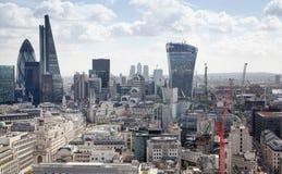 Ville du panorama de Londres, vue de cathédrale de St Paul Images stock