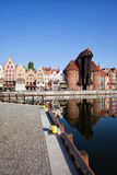 Ville du paysage urbain de Danzig en Pologne Image stock