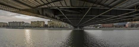 Ville du paysage, vue de Moscou Images stock