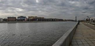 Ville du paysage, vue de Moscou Photos stock