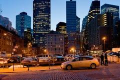 Ville du sud de port maritime de rue à New York Image stock