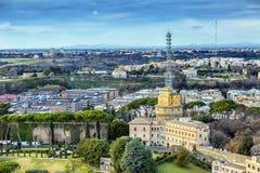 Ville du Vatican papale Rome Italie de chaîne de télévision Images stock