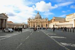 Ville du Vatican, Rome, Italie, beau panorama vibrant d'image de S photo libre de droits