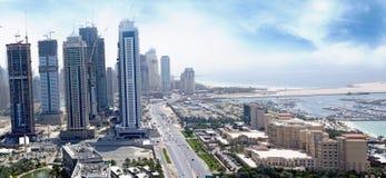 Ville Dubaï de medias et hôtel de Westin Image stock
