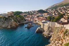 Ville Dubrovnik en Croatie image stock