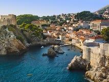 Ville Dubrovnik en Croatie images libres de droits