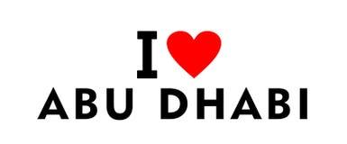 Ville EAU d'Abu Dhabi Images libres de droits