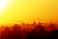 Ville en construction Photos libres de droits
