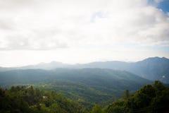 Ville en montagne Photo stock
