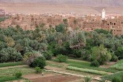 Ville en vallée de Dades Image stock