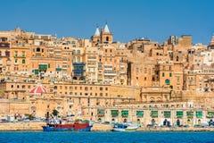 Ville enrichie de La Valette Malte Photo libre de droits