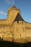 Ville enrichie historique de Carcassone, France Photos stock