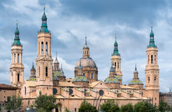 Ville Espagne de Pilar Cathedralin Zaragoza Photographie stock