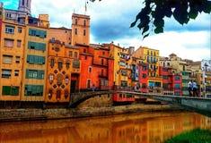 Ville espagnole provinciale photographie stock libre de droits