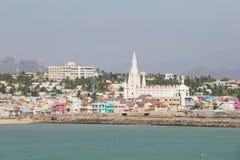 Ville et église de Kanyakumari Images stock