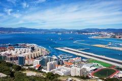 Ville et baie du Gibraltar Image stock