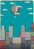 Ville et ballon à air