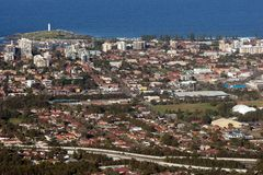 Ville et banlieues de Wollongong Photo stock
