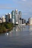 Ville et fleuve de Brisbane Photographie stock