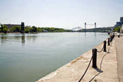 Ville et fleuve Don de Rostov-on-Don Image libre de droits