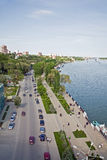 Ville et fleuve Don de Rostov-on-Don Image stock