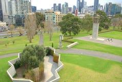 Ville et jardins de Melbourne Image libre de droits