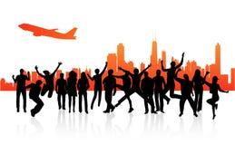 Ville et les gens illustration libre de droits