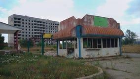 Ville et magasin ruinés Images libres de droits