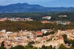 Ville et paysage de Gérone photos libres de droits