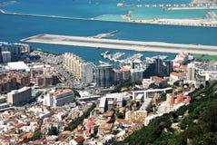 Ville et piste du Gibraltar Images libres de droits