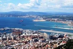 Ville et piste du Gibraltar Images stock